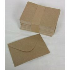 BROWN FLORISTRY, CRAFT, WEDDING  SMALL ENVELOPES 11cm X 7.6cm  1 - 100