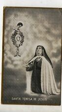 ANTIQUE HOLY CARD ST THERESE JESUS CHALICE