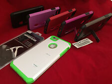 SHOCKPROOF HYBRID KICKSTAND CASE & TEMPER GLASS SCREEN PROTECTOR FOR IPHONE 6