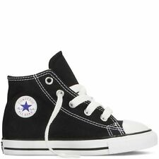 Converse Star Hi Top Black White Baby Infant Toddler Boys Girls Shoes Size 2-10