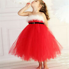 Red Baby Girl Christmas Dress Sweet Princess Dress Wedding Party Christmas Gift
