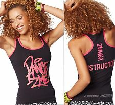 ZUMBA Dance is Me~Metallics INSTRUCTOR'S RacerBack Top Shirt fr Convention S M L