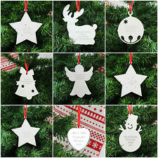 Personalised Engraved Metal Christmas Xmas Tree Decoration Gift Present Ideas