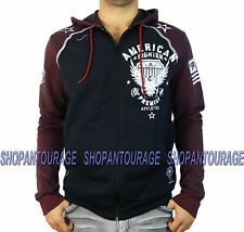 American Fighter North Central FM1905 New Men`s Black/Red Hoodie by Affliction