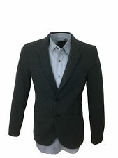 Antony Morato Mens Herringbone Super Slim Fit Blazer Jacket in Grey