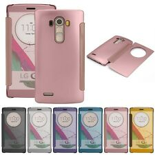 New Luxury Flip Leather Ultra Thin PC Mirror Smart Case Cover For LG Optimus G4