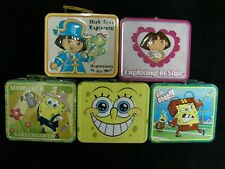 Dora the Explorer & SpongeBob Metal Tin Lunch Box~Choose from 6 Designs ~ NEW