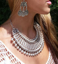 New Ethnic Tribal Boho Coin Necklace Belly Dance Bohemian Festival Gypsy Jewelry