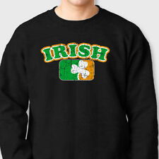 Irish Pride Flag Ireland T-shirt Celtic Pride Shamrock Gaelic Crew Sweatshirt