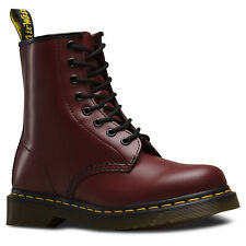 Dr. Martens Unisex 1460Z DMC 8 Lace Up Red Smooth Leather Boots Shoes Doc New