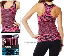 Zumba® FITNESS FuNkY LONG RACERBACK Top & 4 Rubber Remix Matching Bracelets~ S M