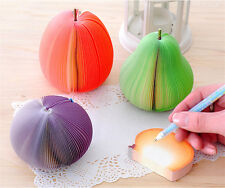 1PC Fruit Scrapbooking Note Memo Pads Portable Scratch Paper Notepad Post Sticky