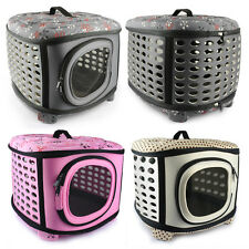 Pet Puppy Dog Cat EVA Carrier Crate Folding House Kennel Tote Travel Outdoor Bag