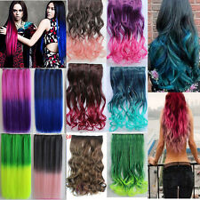 Sexy Long Straight/Curly/Wavy Hair Extension Clip in Hair Extensions Colorful