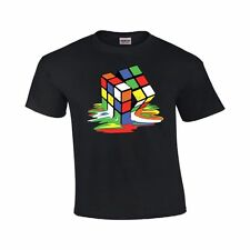 Melting Rubiks Cube Shirt - Sheldon Rubix Tee - The Big Bang Theory Tshirt