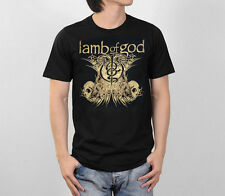 LAMB OF GOD LOGO GRAPHIC HEAVY METAL ROCK BAND VINTAGE CONCERT TOUR MEN T-SHIRT