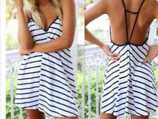 New Sexy Lady's V-neck Halter Loose Leisure Summer Women Sling Dress/Skirt C274