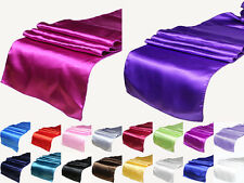 "18 Colors Satin Table Runner 12"" x 108"" Wedding Decoration Supply Party 5PCS"