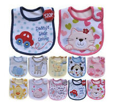 New Baby Infant Cartoon Style Prevent Saliva Towel Waterproof Feeding Lunch Bibs