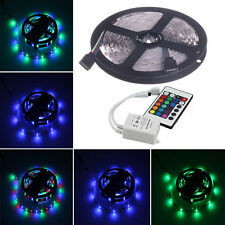 5M 3528 RGB Non-Waterproof Strip 300SMD LED Light + Mini 24Key Remote Controller