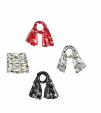 Dog Print Scarf Assorted Dog Breed Themed Silky Feel Satin Scarf Scarves Wrap