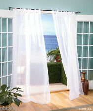 "Indoor/Outdoor Sheer Curtain IN STOCK Elegant White 84 or 96"" Window Panel"