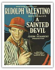 A Sainted Devil Rudolph Valentino Vintage Flm Movie Art Poster Print Giclee