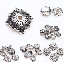 20/50/100Pcs Tibet Silver Metal Loose Spacer Bead Flower Caps Jewelry Finding