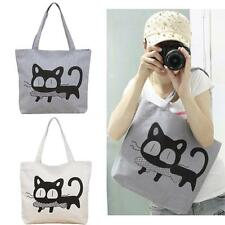 Cat Print Shopping Shoulder Bags Women Lady Handbag Beach Bag Tote HandBags 86G1
