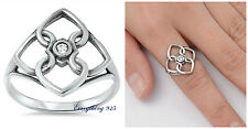 .925 Sterling Silver 19MM TANGLED HEART DESIGN PROMISE RING SIZES 5-10