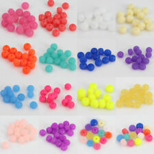 30 Pcs Candy Color Resin Round Ball Spacer Loose Beads 12mm Jewelry Making Craft