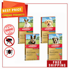 Advantix for Dogs Flea and Tick Treatment All Sizes 6 Pipettes + FREE 2 Pipettes