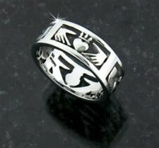 Ashling Aine Stainless Steel Claddagh Band Ring