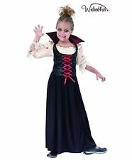 KIDS COUNTESS BLOOD THIRST GIRLS COSTUME HALLOWEEN FANCY DRESS AGES 4-12 YEARS
