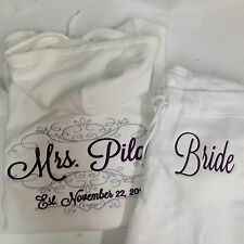 Embroidered Tracksuit  Bride/Future Mrs. Soon to be Mrs.Bride Hoodie & pants Set