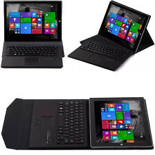 Removable Wireles Bluetooth Keyboard Touchpad Leather Case Cover for Surface 3