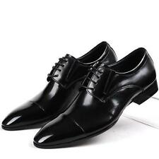 new Italian Leather cap toe oxford lace up formal mens Dress Shoes boots size 44
