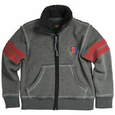 Alpha Industries Gray Mission Zip-Up Hoodie- Toddler & Boys