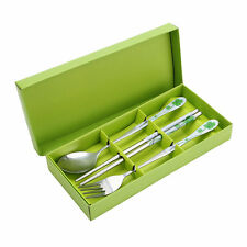 Chinese Style Portable Cutlery Tableware Sets Chopsticks Spoon Fork Dinnerware