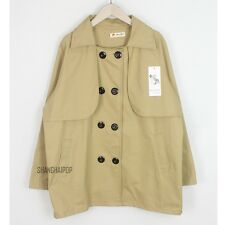 Women/Lady Loose Double Breasted Trench Jacket Coat Outerwear Oversized Fashion