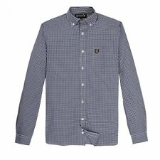 Lyle and Scott Long Sleeve Gingham Shirt, Admiral Blue