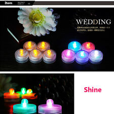 Flicker Light Flameless LED Tealight Tea Candles Wedding Light With Seven Colors