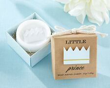 Little Prince Crown Soap Boy Birthday Party Baby Shower Favor in Gift Box