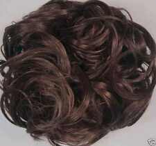 Curly Bun Hair Scrunchie Pony Tail HolderChoice of BROWN Color NWT FREE SHIPPING