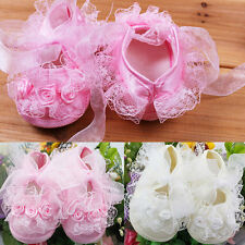 New Princess Non-Slip Newborn Baby Toddler Girl Beautiful Lace Shoes ES