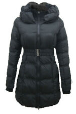 Womens/Girls Quilted Zip Padded Collar Belted Winter Coat Jacket (8,10,12,1416,)
