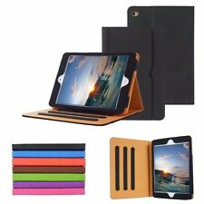 Soft Leather Wallet Smart Sleep / Wake Stand Case Cover for iPad Mini 1 2 3 4