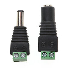 10/20x Male Female 2.1x5.5mm DC Power Plug Jack Adapter Wire Connector for CCTV