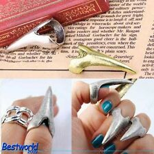 Fashion Hot Cool Punk Party Rock Vintage Eagle Claw Spike Nail Ring DA