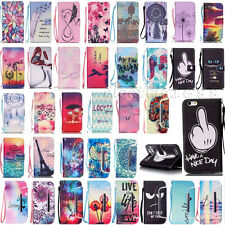 Folio Flip Stand Card Wallet Leather W/Strap Cover Case For iPhone 4S 5S 6S Plus